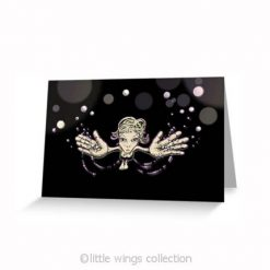 Blowing Kisses - Greeting Cards