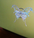 Holographic Stickers Butterfly Silver