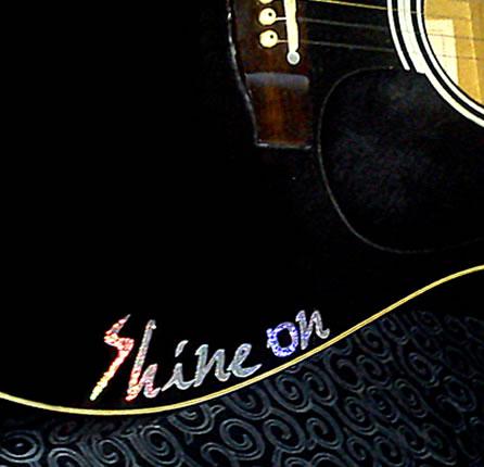 Shine on Sticker on Guitar