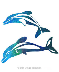 Holographic Stickers - Dolphins