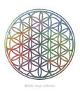Holographic Stickers – Flower of Life – Silver