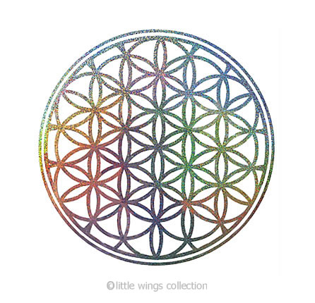 Holographic Stickers - Flower of Life - Silver