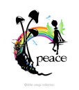 Transparent Stickers – Peace