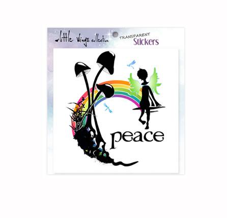 Transparent Stickers - Peace