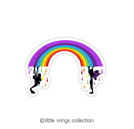 Raining Rainbows - Viny Stickers