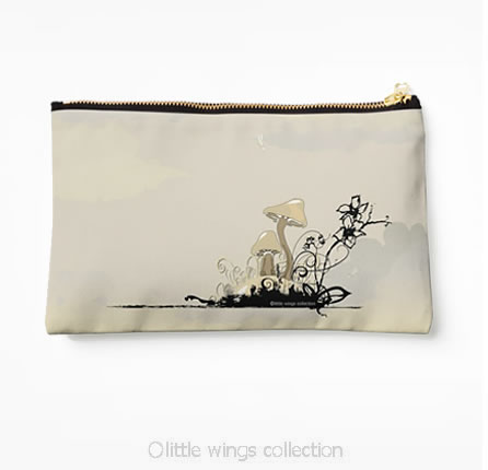 studio pouch mushrooms little wings collection