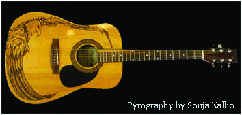 The how and why of Little Wings - pyrography guitar