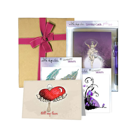 greeting cards - gift hampers