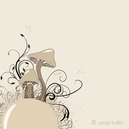 sonja kallio - mushrooms - Little Wings Collection