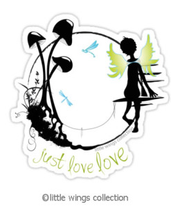 stickers - just love love