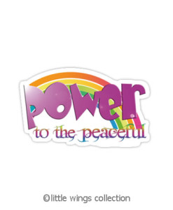 stickers - power to the peaceful