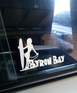 Byron Bay - Surfergirl - car Stickers