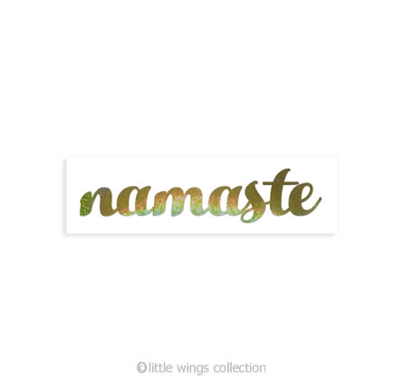 Holographic Stickers – Namaste Gold