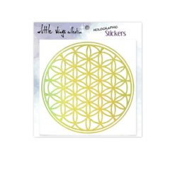 Holographic Stickers - Gold - Flower of Life