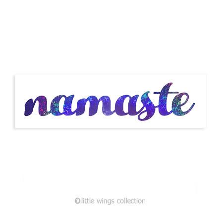 Holographic Stickers - Namaste Purple