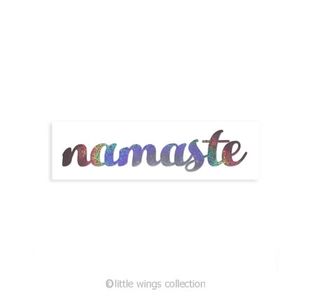 Holographic Stickers - Namaste Silver