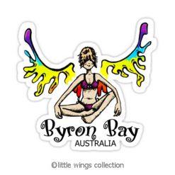 Rainbow Girl - Byron Bay - Stickers