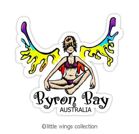 Rainbow Girl – Byron Bay – Stickers