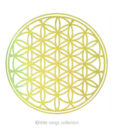 Holographic Stickers – Gold – Flower of Life
