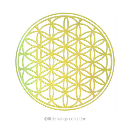 Flower of Life Gold Holographic Stickers