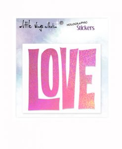hologram, holographic stickers, love