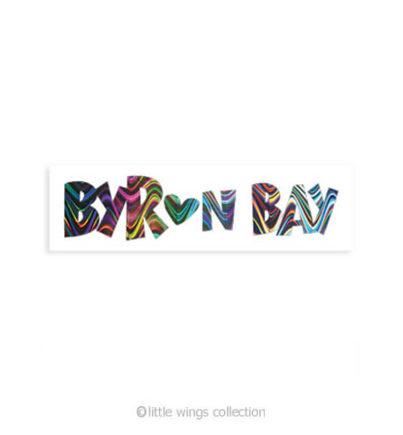 Byron Bay Holographic Stickers