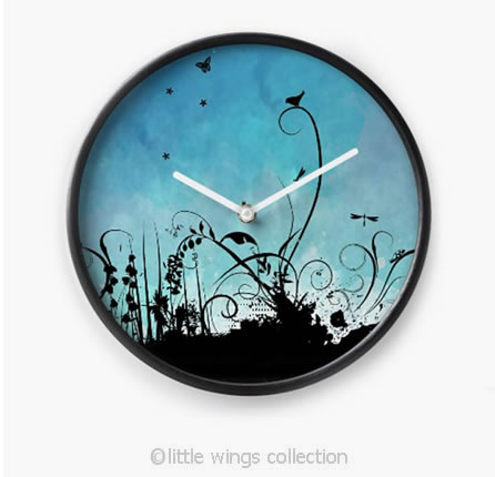 Clocks Black Birdy - Little Wings Collection