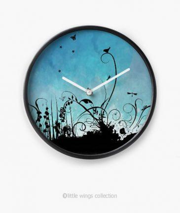 Clock Black Birdy