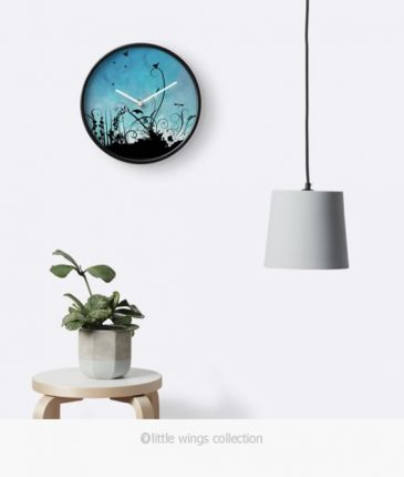 Clock Black Birdy, Little Wings Collection