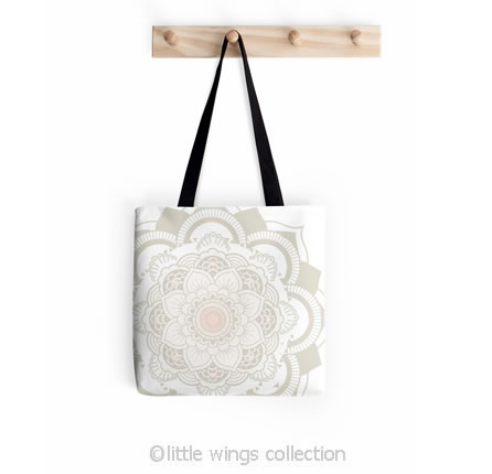 Tote Bag Mandala Little Wings Collection