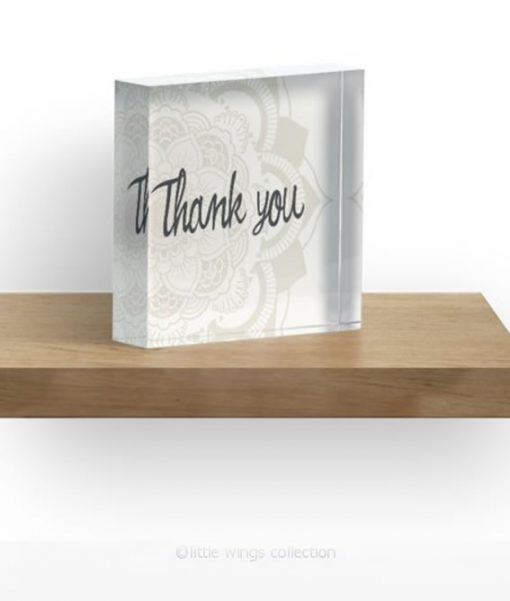Thank you Acrylic Block Little Wings Collection