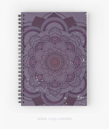 Mandala Purple Notebook Little Wings Collection