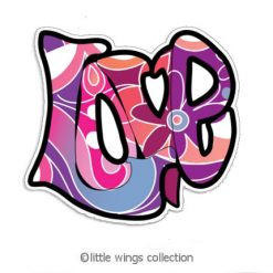 Love Graffiti Stickers - Little Wings Collection