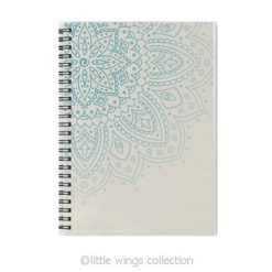 mandala cream notebook - little wings collection