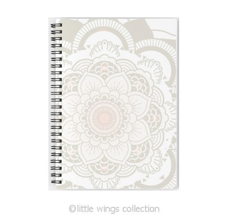 mandala spirals notebook - little wings collection