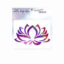 lotus pink holographic stickers