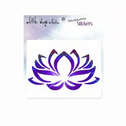 lotus indigo holographic stickers