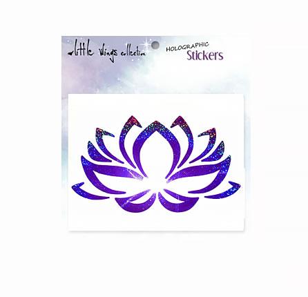 lotus indigo holographic stickers
