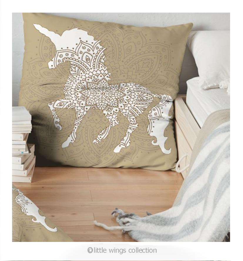 unicorn cushion little wings collection